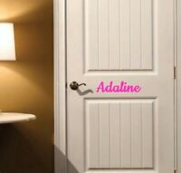 Kids Custom Personalized Name Vinyl Decal Sticker For Wall Door Window Decor