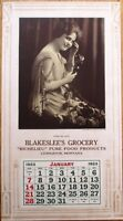 Livingston, MT 1923 'Blakeslee's Grocery' Ad Poster/Calendar - Telephone Woman