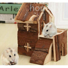 Wooden House Villa Cage Exercise Toy for Hamster Hedgehog Mouse Rat Guinea Pig
