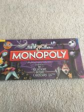 New - MONOPOLY Tim Burton's The Nightmare Before Christmas...Collector's Edition