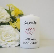 Will You Marry Me? Personalised candle keepsake gift