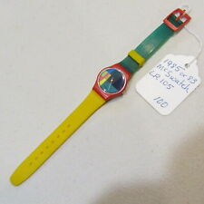"Vintage SWATCH Watch ""McSwatch"" 1985 LR105 Original Bands NO BOX"