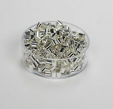 Silver Plated / Brass Tube Crimp Beads 3 x 3 MM Pkg. Of 500 ( Hole 2.5 mm ) USA