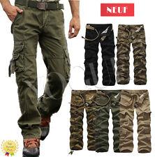 Homme Pantalon de Travail Militaire Armée Camo Cargo Chino Pants Trousers 32-40