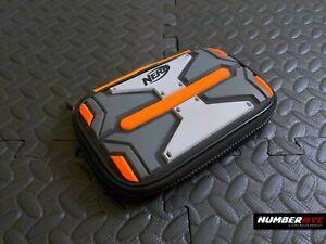 Nintendo DS Nerf Soft Protective Case in Bright Rubber Orange Gray Black 3 Slots