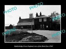 OLD LARGE HISTORIC PHOTO BATTLESBRIDGE ESSEX ENGLAND, THE HAWK INN c1940
