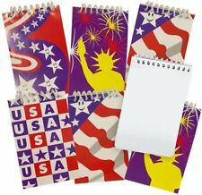 Artcreativity Mini Patriotic Notepads Pack Of 12 Small Red White And Blue