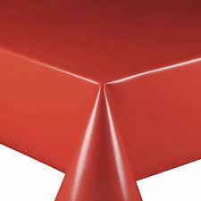Wachstuch Tischdecke Wachstischdecke Glatt Uni Rot Breite & Länge wählbar