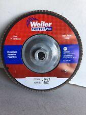 """Weiler Vortec Pro Zirconium Abrasive Flap Disc 7"""" x 5/8"""" Type 27 #31421"""