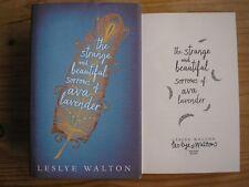 LESLYE WALTON-STRANGE AND BEAUTIFUL SORROWS OF AVA LAVENDER 1st/1st HB/DJ SIGNED