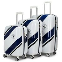 Santa Barbara Polo Racquet Club Ribbon Collection Expandable 3 Piece Luggage Set