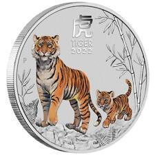 Australien 2022 - Jahr des Tigers - Sydney Coin Show Special - 1/4 Oz Silber ST