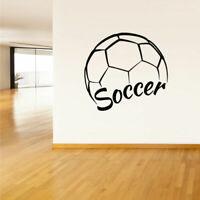 Wall Vinyl Sticker Decals Soccer Football Ball Gates Sport Word Quote (Z2804)