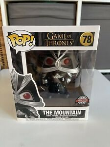 """Game Of Thrones THE MOUNTAIN IN ARMOUR  Pop #78 (6"""" Special Edition) VGC"""
