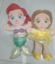 Bundle Disney Princess Plush Soft  Dolls Little Mermaid & Belle Good Condition