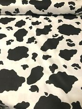 WILD ANIMAL Black & White Cow type PRINT 100% COTTON FABRIC by the yard #15