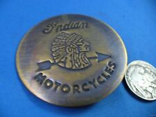 ANTIQUE FINISH SOLID BRASS INDIAN MOTORCYCLES BADGE PIN antique finish biker old