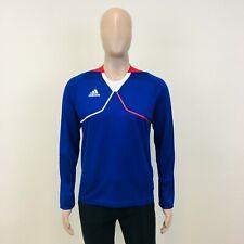 New Men's Adidas FRANCE Long Sleeve Sweatshirt T-Shirt Football Top All Sizes