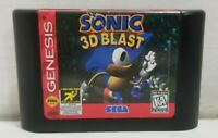 Sonic 3D Blast (Sega Genesis, 1996) Authentic Cartridge Only TESTED FREE SHIPPIN