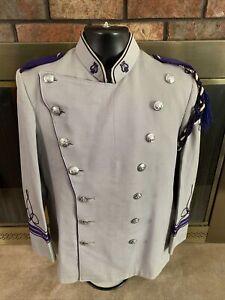 Vintage Craddock Marching Band Uniform Beret Purple Silver Mens Size Medium Vtg