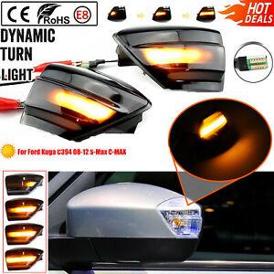 For Ford Kuga C394 08-12 S-Max C-MAX Dynamic Turn Signal Light LED Mirror Lamp