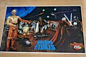 "1977 Original Vintage French STAR WARS Movie Poster PIF Poche Magazine 35""x22"""
