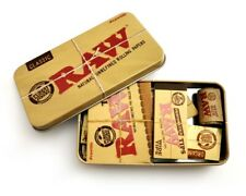 RAW Rolling Kit Starter Box Tin SET - Organic/Classic/Hemp Papers/Tips/Wick/Tin