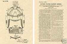 US PATENT for LEATHER FOOTBALL HELMET 1925 NFL Art Print READY TO FRAME!!!