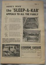 1960 Sleep-A-Kar Caravan Original advert