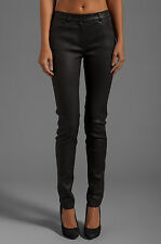 Alexander Wang Stretch Black Leather Skinny Pants Jeans 28 NWT $1.2K