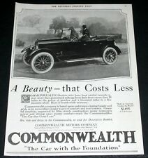 1920 OLD MAGAZINE PRINT AD, COMMONWEALTH MOTOR CARS, A BEAUTY THAT COSTS LESS!