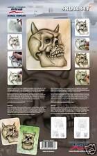 Harder & steenbeck aerógrafo Plantillas-Skull Set