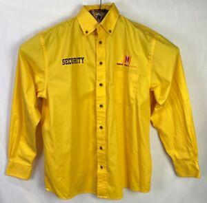Dunkin Donuts Center Security Shirt Lg Guard Uniform SHIRT Yellow Harriton #20L