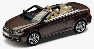 GENUINE VW EOS BLACK OAK BROWN METALLIC 1:43 SCALE DIECAST COLLECTOR'S MODEL CAR