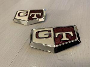 JDM OEM Genuine NISSAN SKYLINE R32 GTR GT-R Fender GT Emblem Badge PAIR IN STOCK