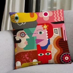 Cushion Throw Pillow Case Creative Sofa Single-sided Soft Cover Linen Ornaments