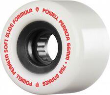 Powell Peralta SSF SNAKES Skateboard Wheels 66mm 75a WHITE w/BLACK Cores