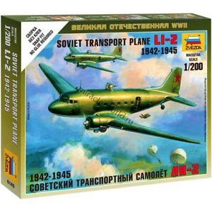 Zvezda 6140 Li-2 (C-47/DC-3) mod. 1942-45 /soviet transport plane/ 1/200