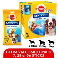 Pedigree DentaStix Dental Dog Treat Chew Stick - S, M, L 7 Stk, 28 Stk, 56Stk