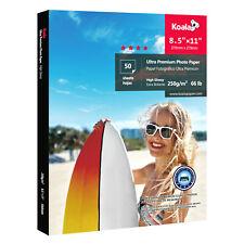 Koala 50 Sheets 8.5x11 Ultra Premium Glossy Inkjet Printer Photo Paper Epson HP