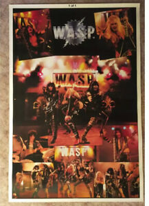 Wasp Huge 1984 Poster BiRite Chicago Blackie Lawless New Condition