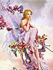 LILAC FAIRY MOSAIC DIAMOND PAINTING PAINT BY NUMBERS KIT 5D CROSS STITCH