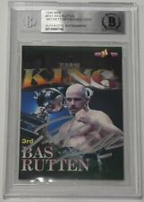 Bas Rutten Signed 1998 BBM Pancrase Card #031 Beckett COA Pancrase UFC Autograph