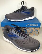 Brooks Addiction 14 Men's Size 10.5 2E Blackened Pearl/Blue Running Shoes X4-785