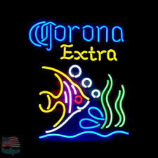 """Corona Extra Tropical Fish Neon Sign 24""""x20"""" From USA"""