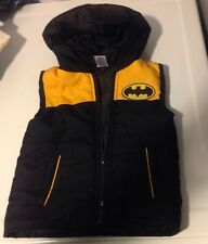 Batman Kids Puffy Vest 3T Hooded Warm Boy Girl Quilted