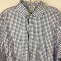 Brooks Brothers Regent Men's Non Iron Long Sleeve Button Up Shirt Sz 17-35 Blue