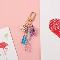 Women Floating Fruit Keyholder Bear Key Chain Key Ring Fashion Accessories