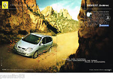 PUBLICITE ADVERTISING 065  2002  RENAULT SCENIC PAC SYSTEM  (2p) pneus MICHELIN