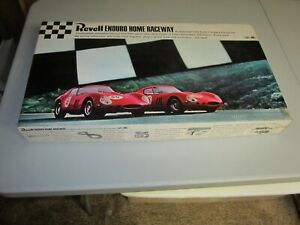 Used Vintage Revell 1/32 Scale 1965 Slot Car Enduro Home Raceway Set Complete